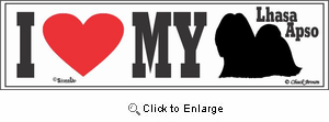 Lhasa Apso Bumper Sticker I Love My