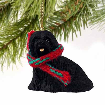Lhasa Apso Tiny One Christmas Ornament Black