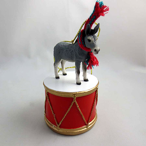 Little Drummer Donkey Christmas Ornament