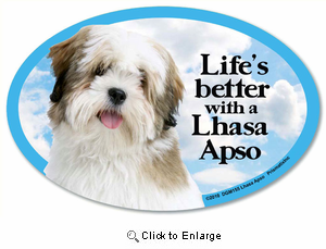 Lhasa Apso Car Magnet - Life's Better