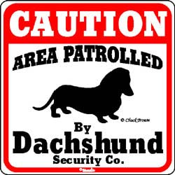 Dachshund Caution Sign