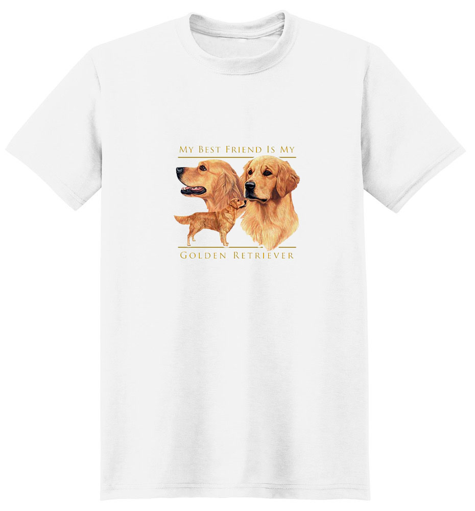 Golden Retriever T-Shirt - My Best Friend Is
