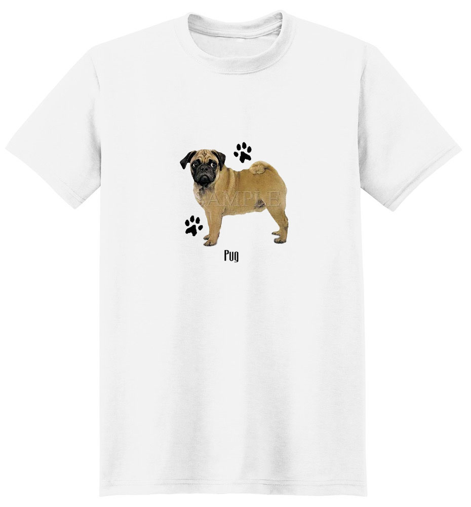Pug T-Shirt - Stylin With Paws