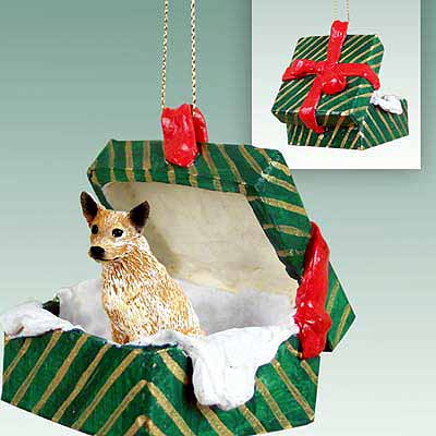 Australian Cattle Dog Gift Box Christmas Ornament Red