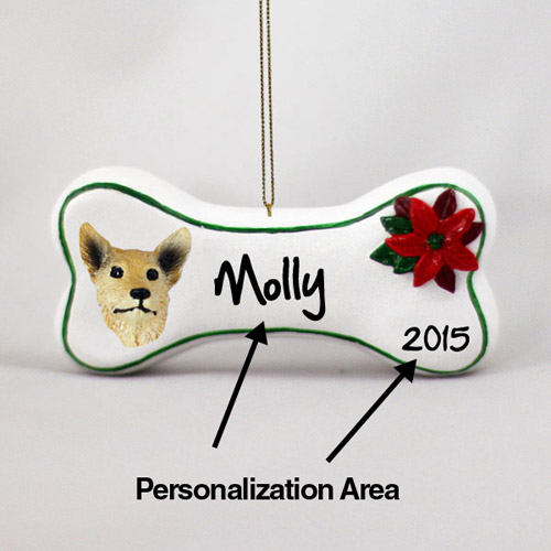Australian Cattle Dog Personalized Dog Bone Christmas Ornament