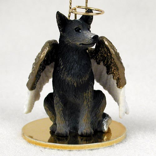 Australian Cattle Dog Angel Ornament Blue