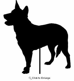Australian Cattle Dog Garden Stake