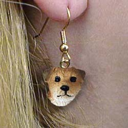 Border Terrier Authentic Earrings