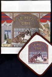 French Bulldog Dish Towel & Potholder