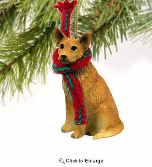 Australian Cattle Dog Tiny One Christmas Ornament Red