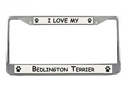Bedlington Terrier License Plate Frame