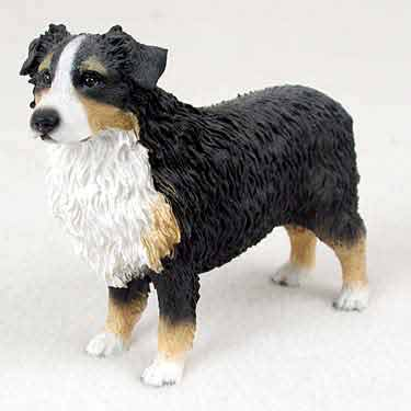 Australian Shepherd Figurine Tri-Color