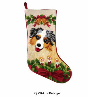Australian Shepherd Christmas Stocking