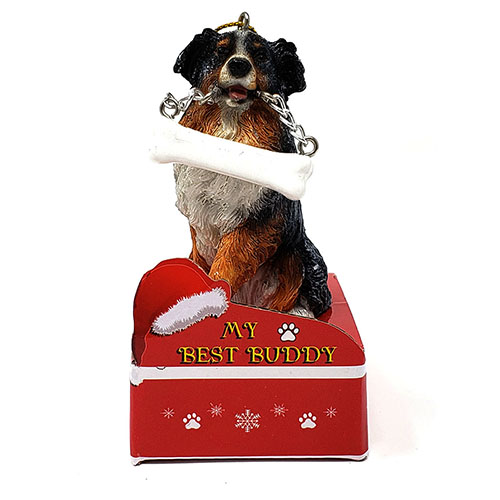 My Best Buddy Australian Shepherd Christmas Ornament