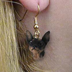 Miniature Pinscher Authentic Earrings