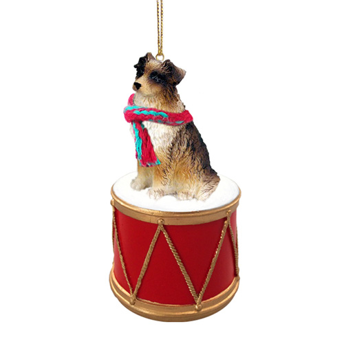Little Drummer Australian Shepherd Brown Christmas Ornament