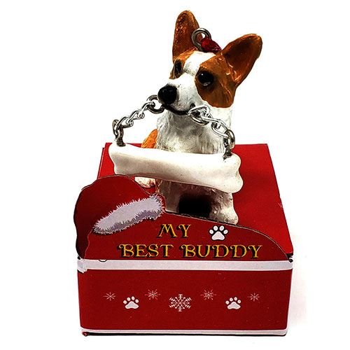 My Best Buddy Corgi Christmas Ornament