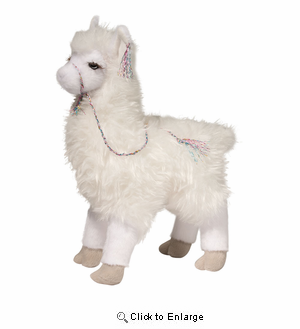 "Llama Plush Stuffed Animal ""Evelyn"" 12"""