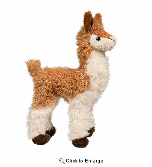 "Llama Plush Stuffed Animal ""Lena"" 7"""