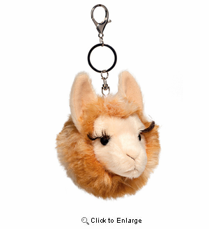 Llama Plush Stuffed Animal Pom Clip On 4""