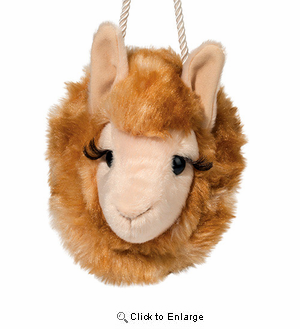 "Llama Plush Stuffed Animal Purse ""Lashy"" 4"""
