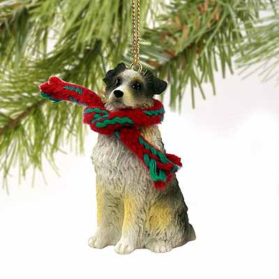 Australian Shepherd Tiny One Christmas Ornament Blue Docked Tail