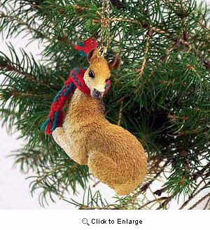 Llama Tiny One Christmas Ornament