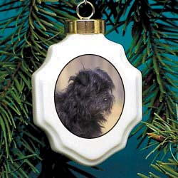 Affenpinscher Christmas Ornament Porcelain