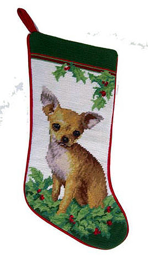 Chihuahua Christmas Stocking