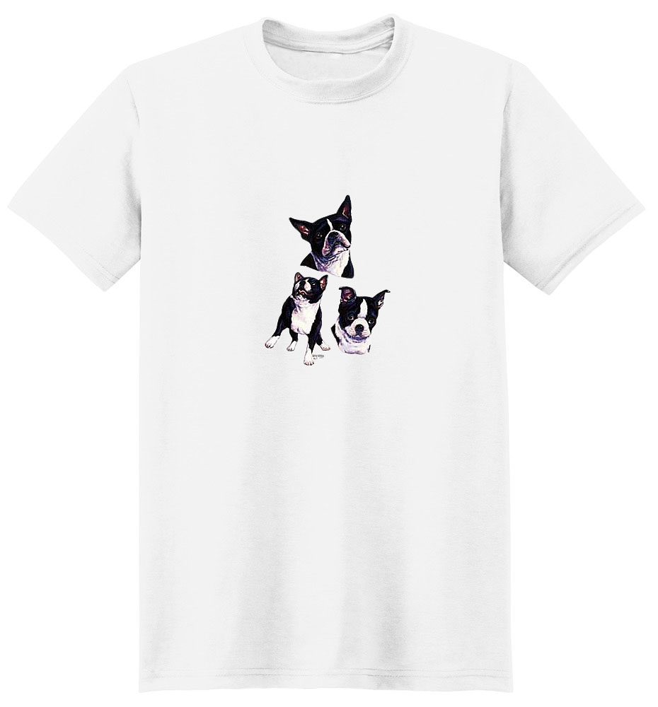 Boston Terrier T-Shirt - Collage