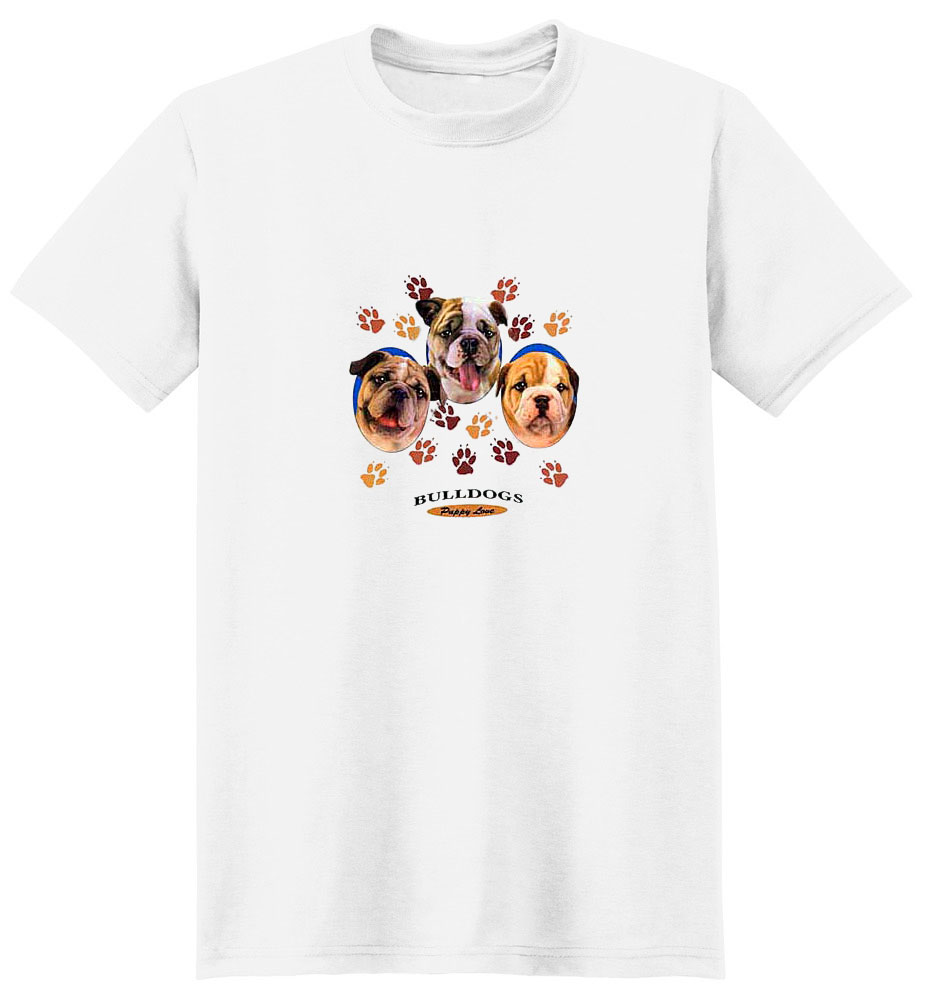 Bulldog T-Shirt - Puppies and Paws