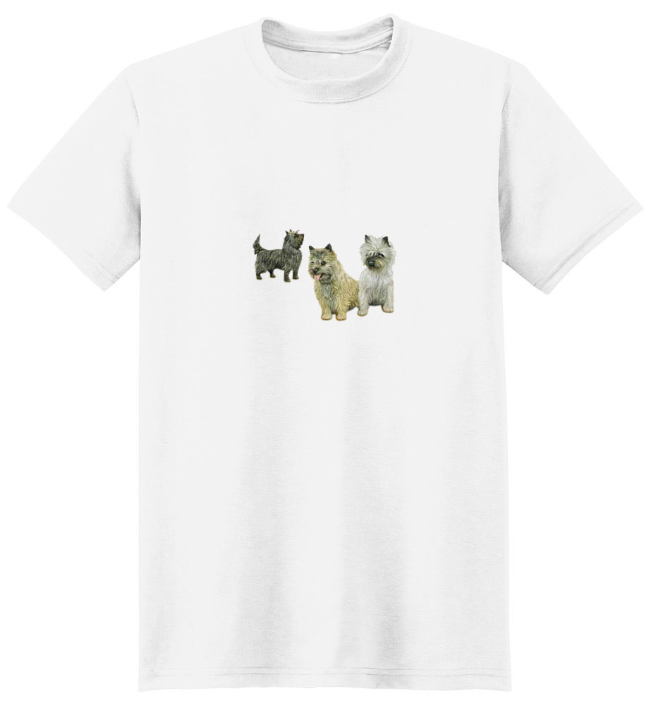Cairn Terrier T-Shirt - Trio of Three