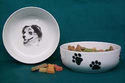 Australian Shepherd Dog Bowl