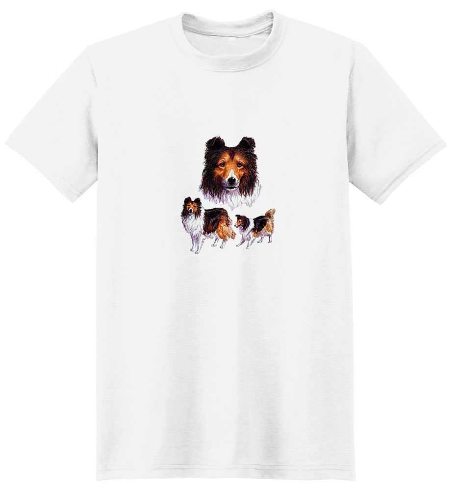 Collie T-Shirt - Collage