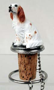 English Setter Bottle Stopper (Orange Belton)