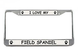 Field Spaniel License Plate Frame