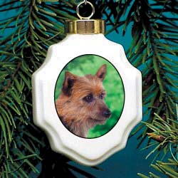 Australian Terrier Christmas Ornament Porcelain