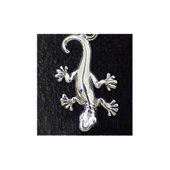 Gecko Sterling Silver Charm