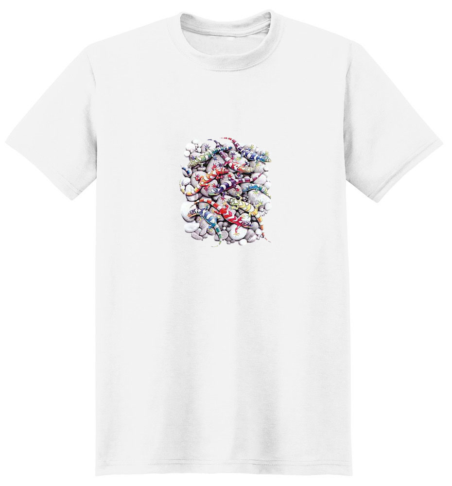 Gecko T-Shirt - Bright and Whimsical
