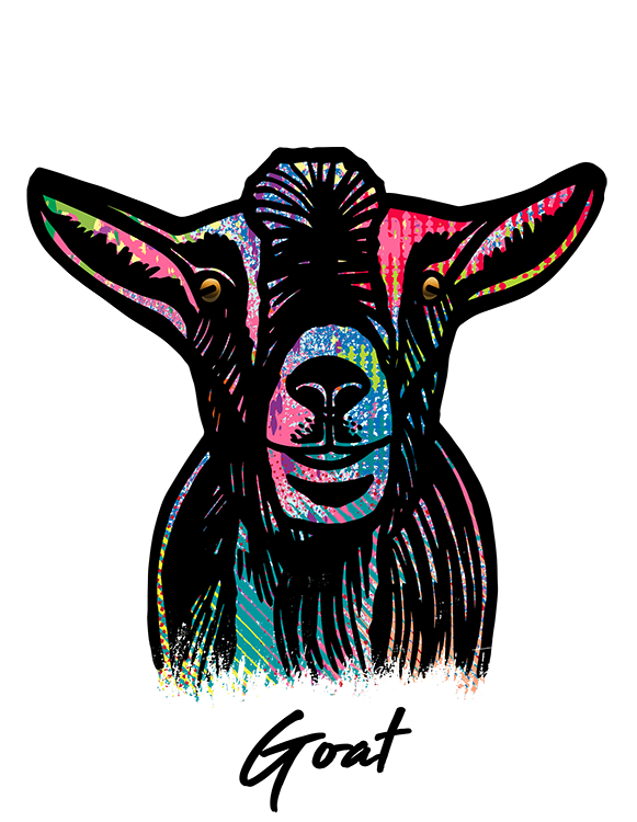 Goat T Shirt Colorful Abstract