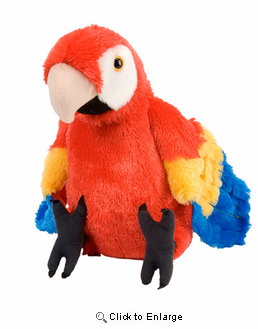 Macaw Scarlet Cuddlekins Plush Animal 14""