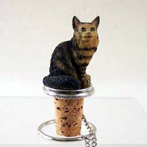 Maine Coon Cat Bottle Stopper