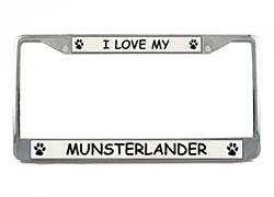 Munsterlander License Plate Frame