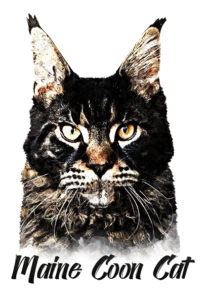 Maine Coon Cat T-Shirt - Vivid Colors