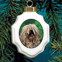 Puli Christmas Ornament Porcelain