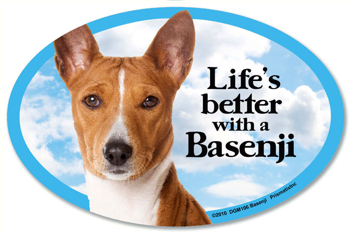 Basenji Car Magnet - Life's Better