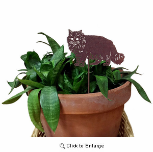 Maine Coon Cat Plant Stake