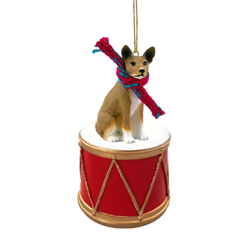 Little Drummer Basenji Christmas Ornament