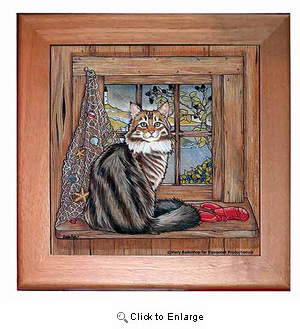 Maine Coon Cat Trivet