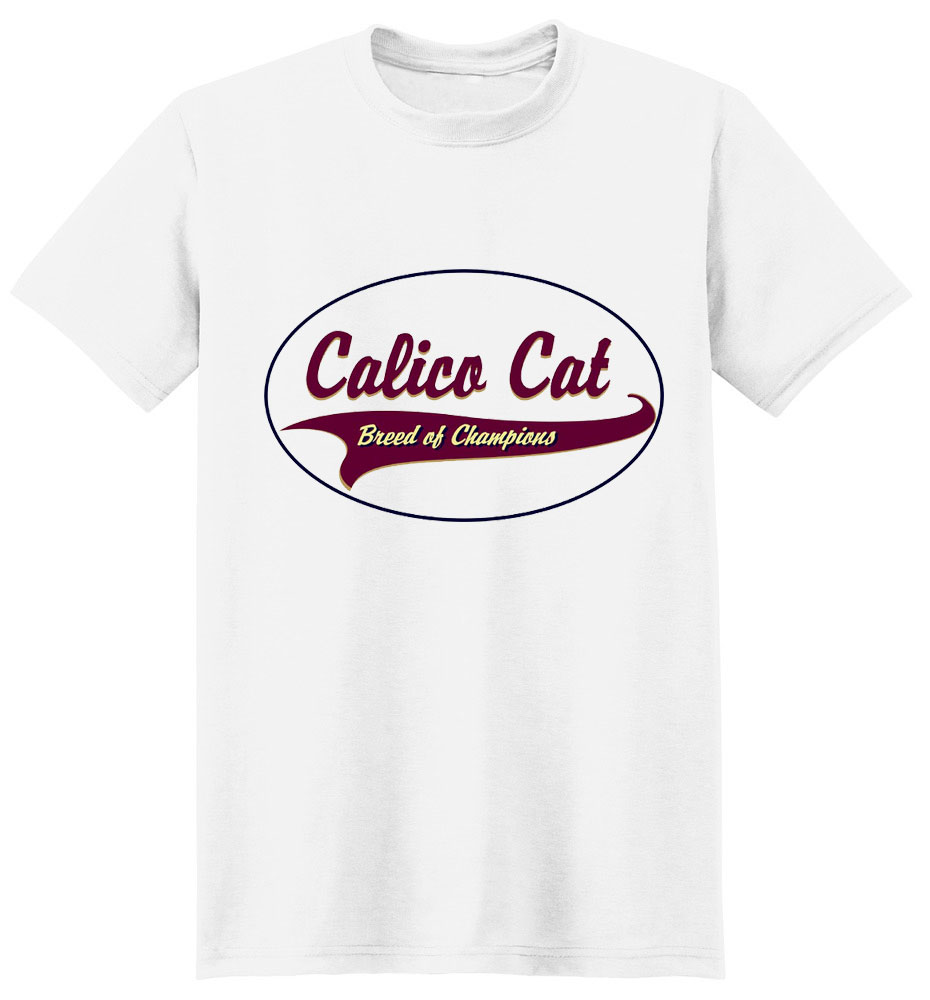Calico Cat T-Shirt - Breed of Champions